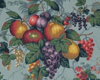 Botanical fruit fabric linen upholstery fabric samples Faversham English