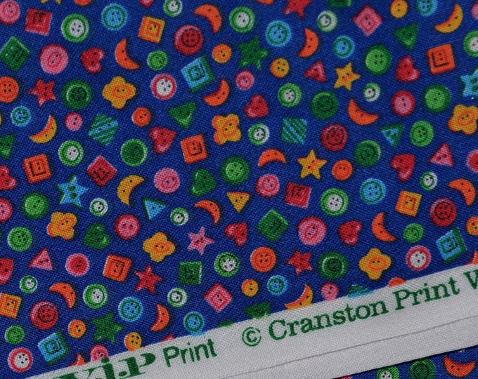 Novelty fabric with Tiny button print Cranston VIP