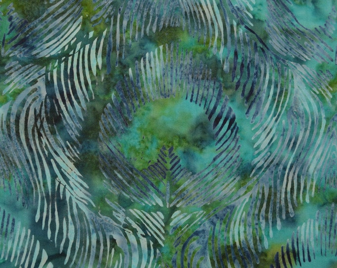 Peacock feathers fabric, Tie Dyed Batik fabric