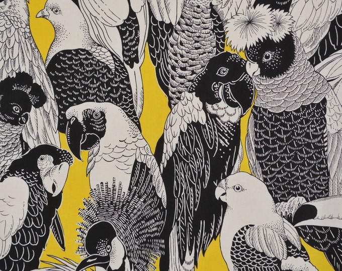Alexander Henry fabric OOP, large tropical birds of a feather