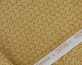 Metallic gold Background print fabric, Asian blender Northcott fabric