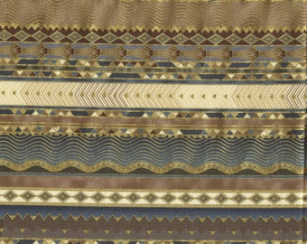 100 % cotton Fabric by Peggy Toole, Empress Bouquet stripe