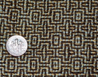 Vintage wool fabric 100 percent Wool woven brown