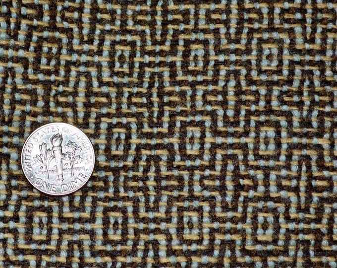 Vintage wool fabric 100 percent Wool woven brown