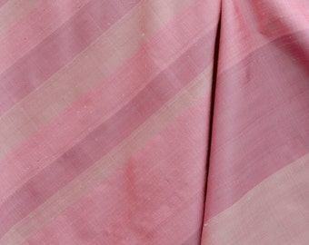 Pink Handwoven silk fabric Siam Thailand silk sari sarong