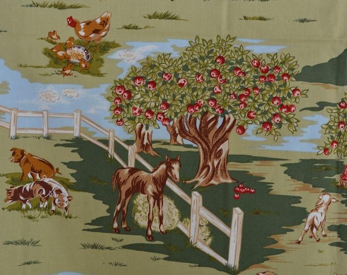 Country barnyard fabric Robert Kaufman fabric Barn Dandy
