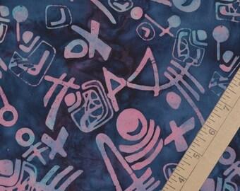Cotton fabric Aboriginal tribal batik, primitive art