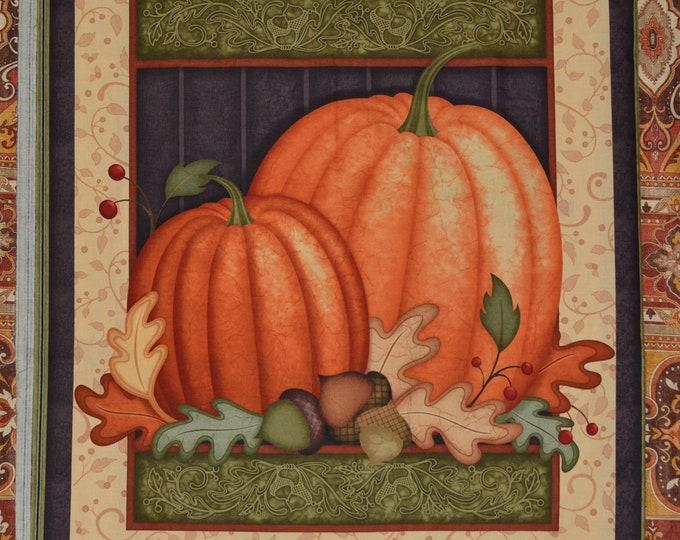Quilting Treasures Harvest pumpkin panel Angela Anderson