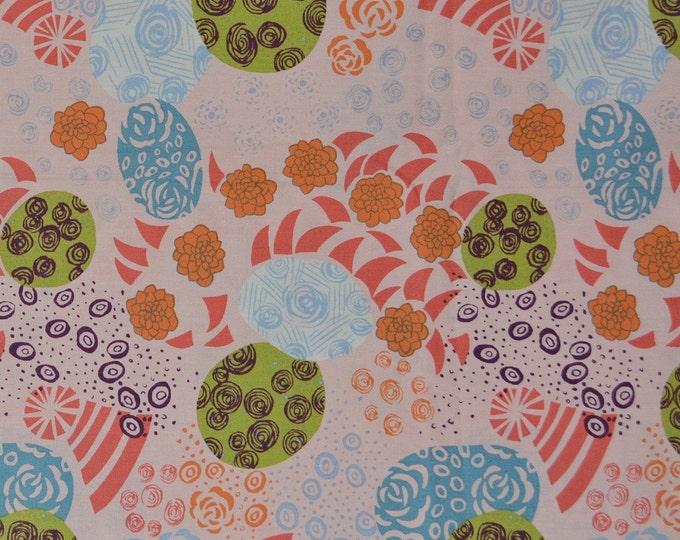 Modern Japanese Asian fabric peach Japanese floral rare Alexander Henry