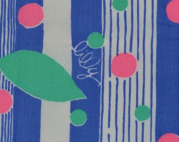 Lilly Pulitzer fabric Zuzek Key West fabric remnants