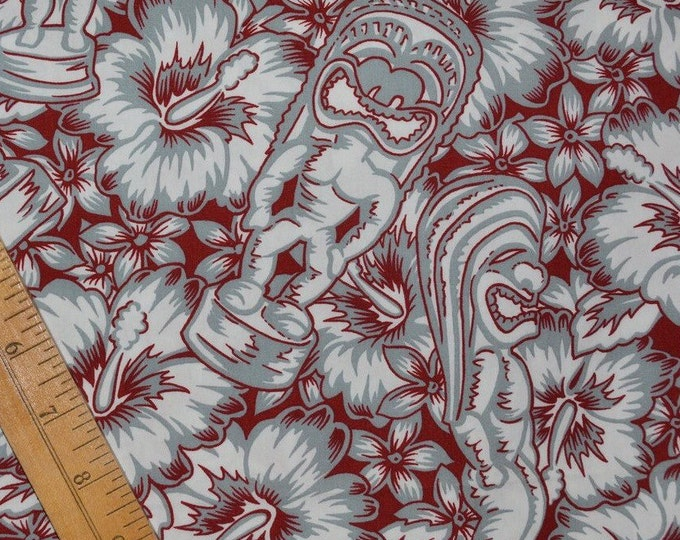 Tropical Tiki fabric Hawaiian fabric out of print Hoffman for Hawaiian shirts
