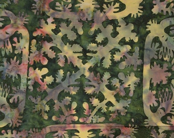 Hawaiian quilt tiles Batik fabric