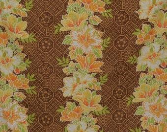 Midcentury Hawaiian Tiki Fabric, vintage Waverly
