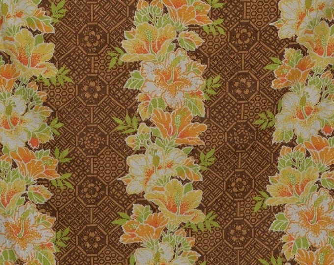 Vintage Hawaiian Tiki  upholstery fabric Waverly