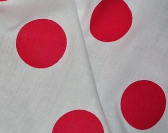 Vintage red polka dot fabric