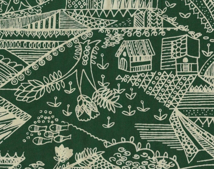 Linework silk fabric, conversational print fabric, toile vintage