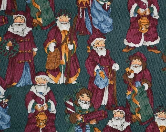 Retro Christmas fabric Old World Santa OOP Alexander Henry fabric Nordic Santa