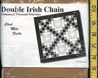 Pre Cut fabric kit Calico fabric, Double Irish Chain Cead Mile Failte