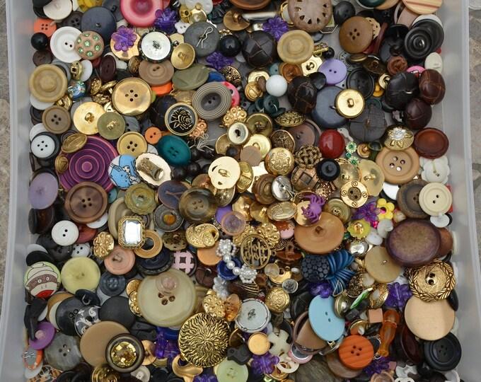Vintage and new button collection destash button lot