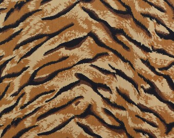 Tiger stripe exotic animal fabric Velveteen fabric