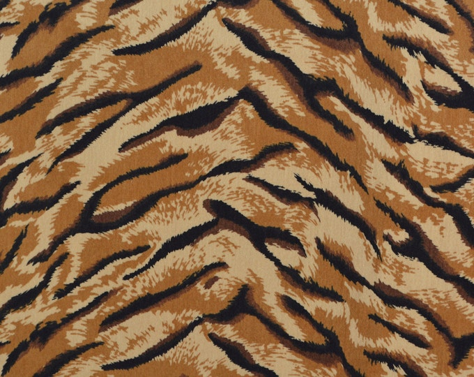 Tiger stripe exotic animal fabric Velveteen fabric
