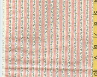 Vintage floral stripe fabric, Faye Burgos
