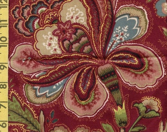 French Jacobean floral upholstery fabric, Waverly Colors of Provence