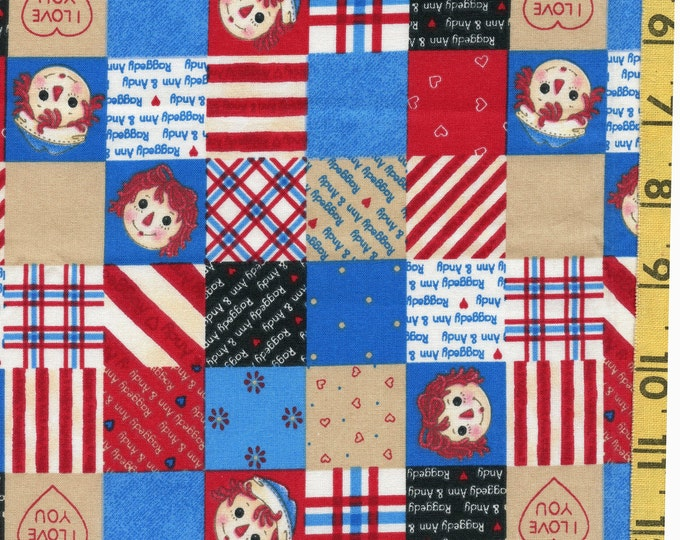 Daisy Kingdom Raggedy Ann and Andy patchwork mini patch