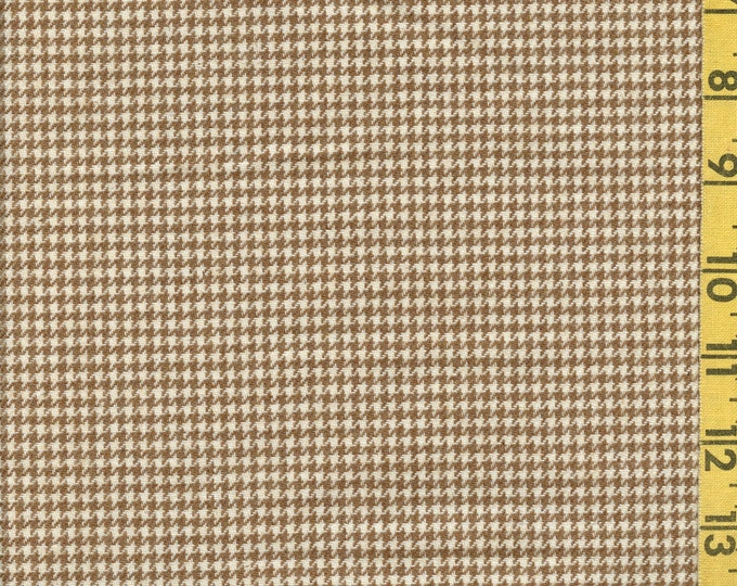 Small Houndstooth check Pure Wool fabric, vintage wool
