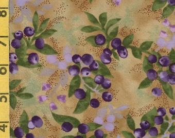 Wild blueberries fabric, McKenna Ryan, Hoffman fabric