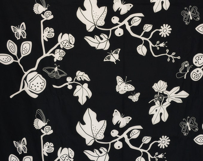 Modern floral and butterfly Ikea upholstery fabric, Sussi Edholm