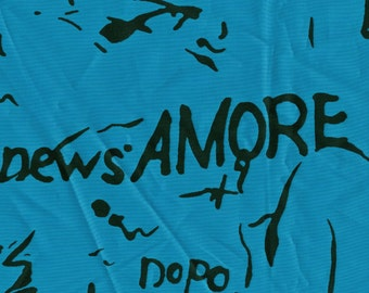Graffiti style fabric, Windbreaker fabric, letters and words, 2 yards x 56 wide