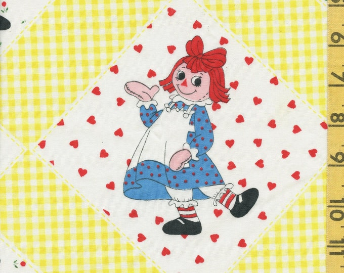 Raggedy Ann and Andy vintage sheeting fabric