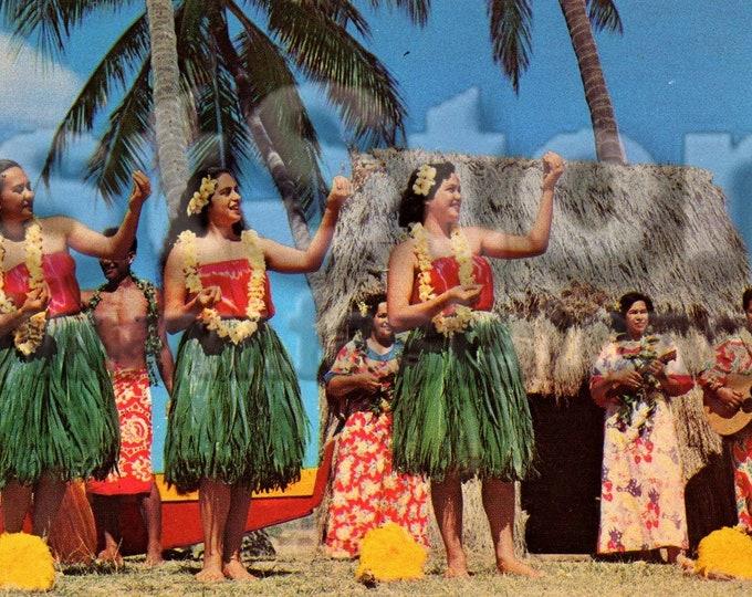 1960s Vintage Hawaii postcard, digital downloads