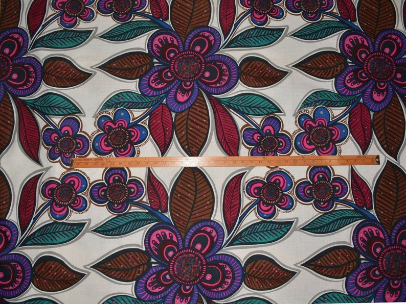 Upholstery Mod floral Flower power mod decor upholstery fabric