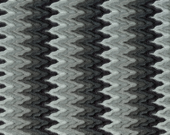 Ribbed Knitted open weave fabric, stretchy rayon chevron woven, 2 yards