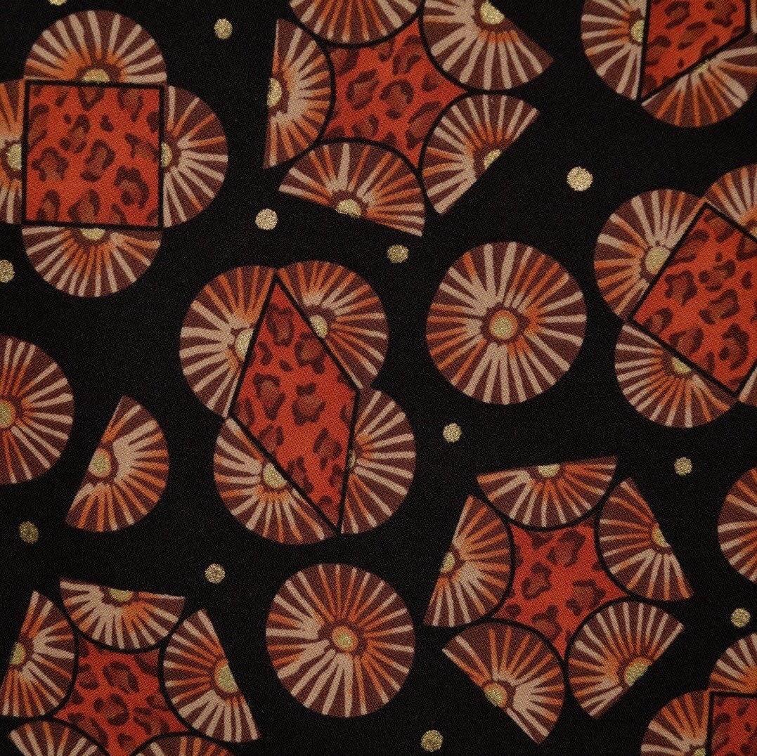 e214828dc53df Tribal fabric African pattern fabric black orange fabric African tribal art