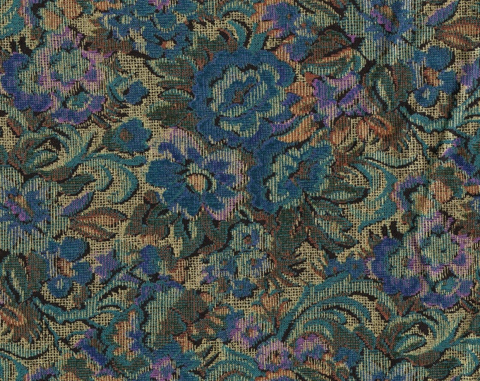 Metallic gold floral rayon fabric, mardi gras renaissance vibe