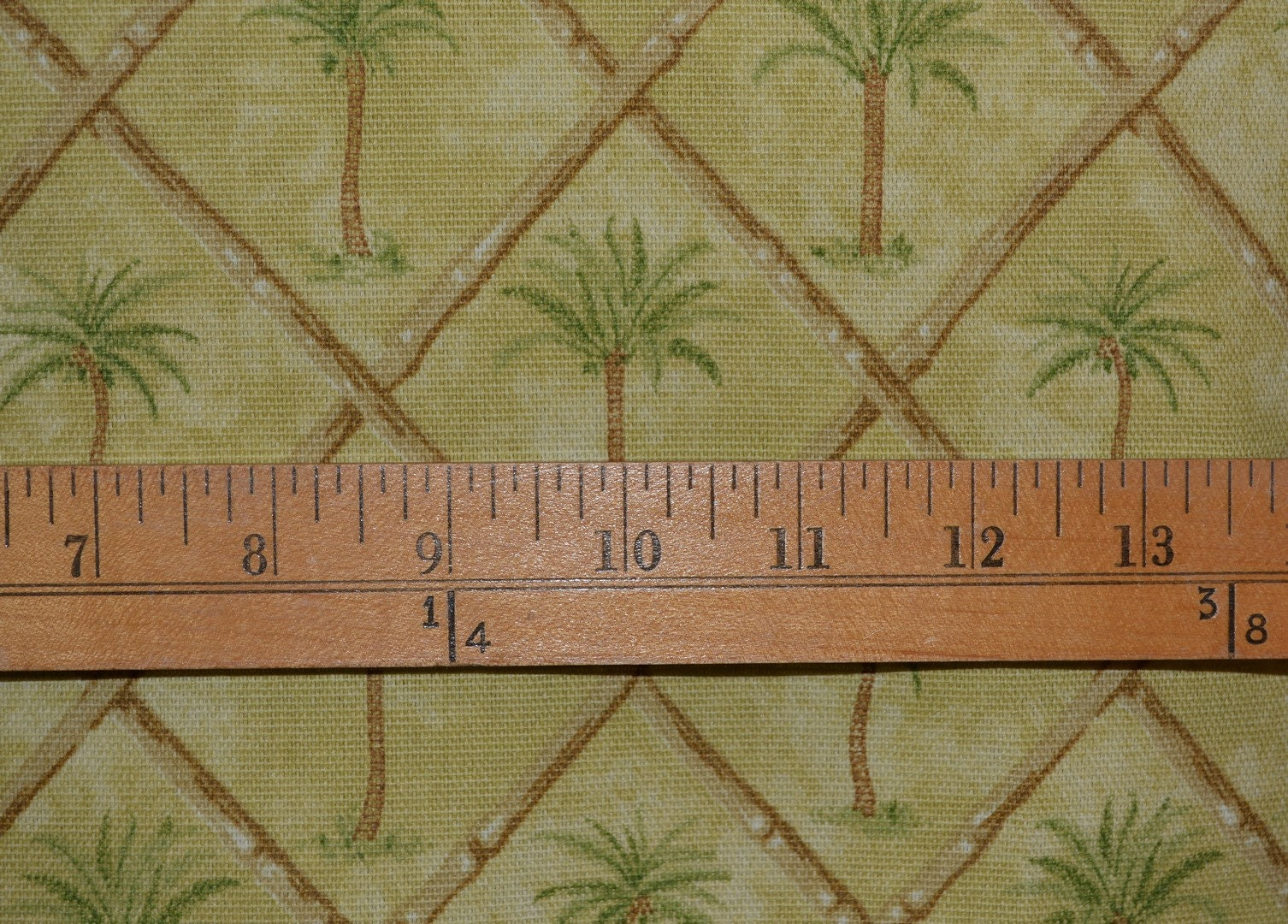 Waverly Tropical Upholstery Fabric Palm Trees And Bamboo