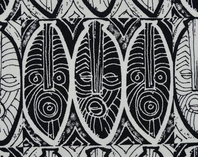 African warrior mask fabric, Malene Djenaba, Marcus Brothers