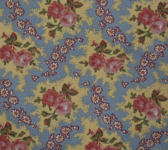 French Country Floral Upholstery Fabric By The Yard Decorator Etsy