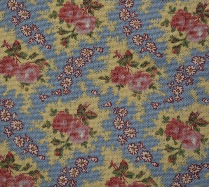 Country Floral Upholstery Fabric By The Yard Shabby Chic Dascoli