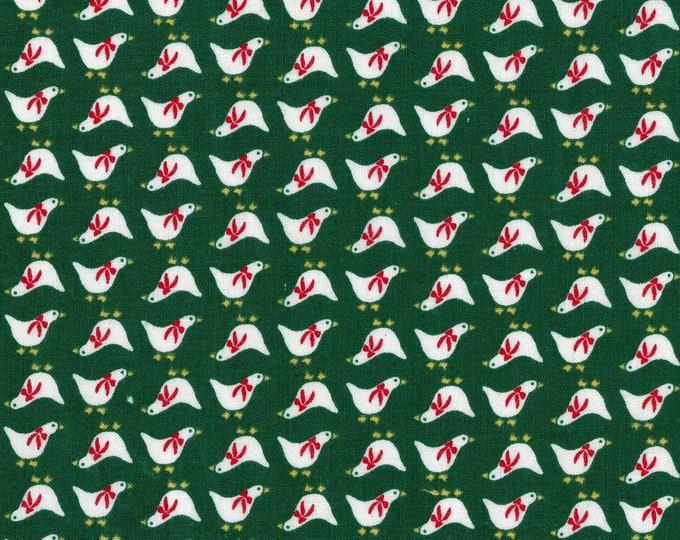 Christmas fabric vintage Manes fabric, micro scale ducks