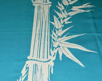 Alfred Shaheen fabric, ONE Japanese Bamboo stalk panel to hang