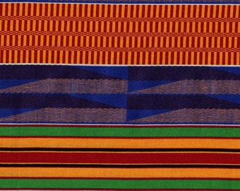 bright Ethnic striped fabric print, 2 yards plus
