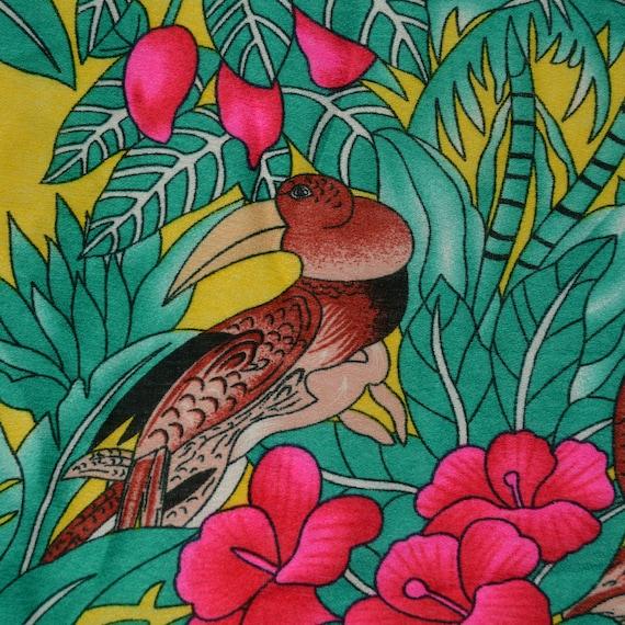 Bird Cotton Craft Fabric By The Metre Hawaiian Tucan Fabric 1940s Fabric