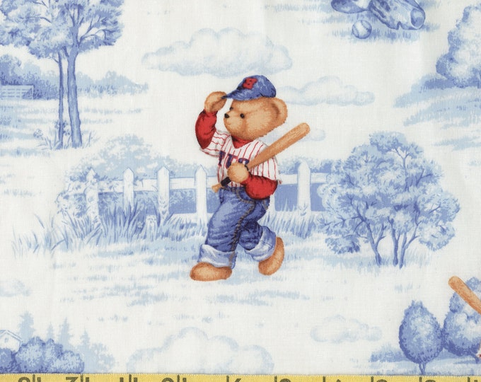 Baseball teddy bear fabric, blue jean teddy