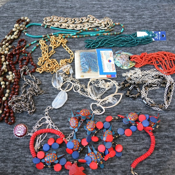 necklace lot lot of reds jewelry red beaded jewelry lot destash
