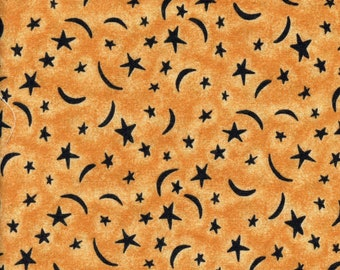 Crescent moon and stars fabric, Sharon Reynolds Northcott