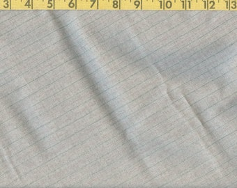 Finely spun worsted wool fabric yardage, light grey pinstriped tropical wool suiting